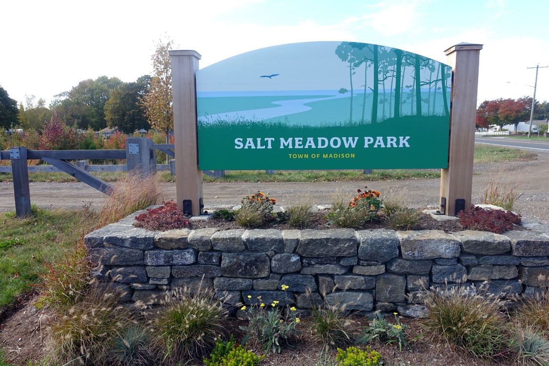View of Salt Meadow Park Entrance from Route 1