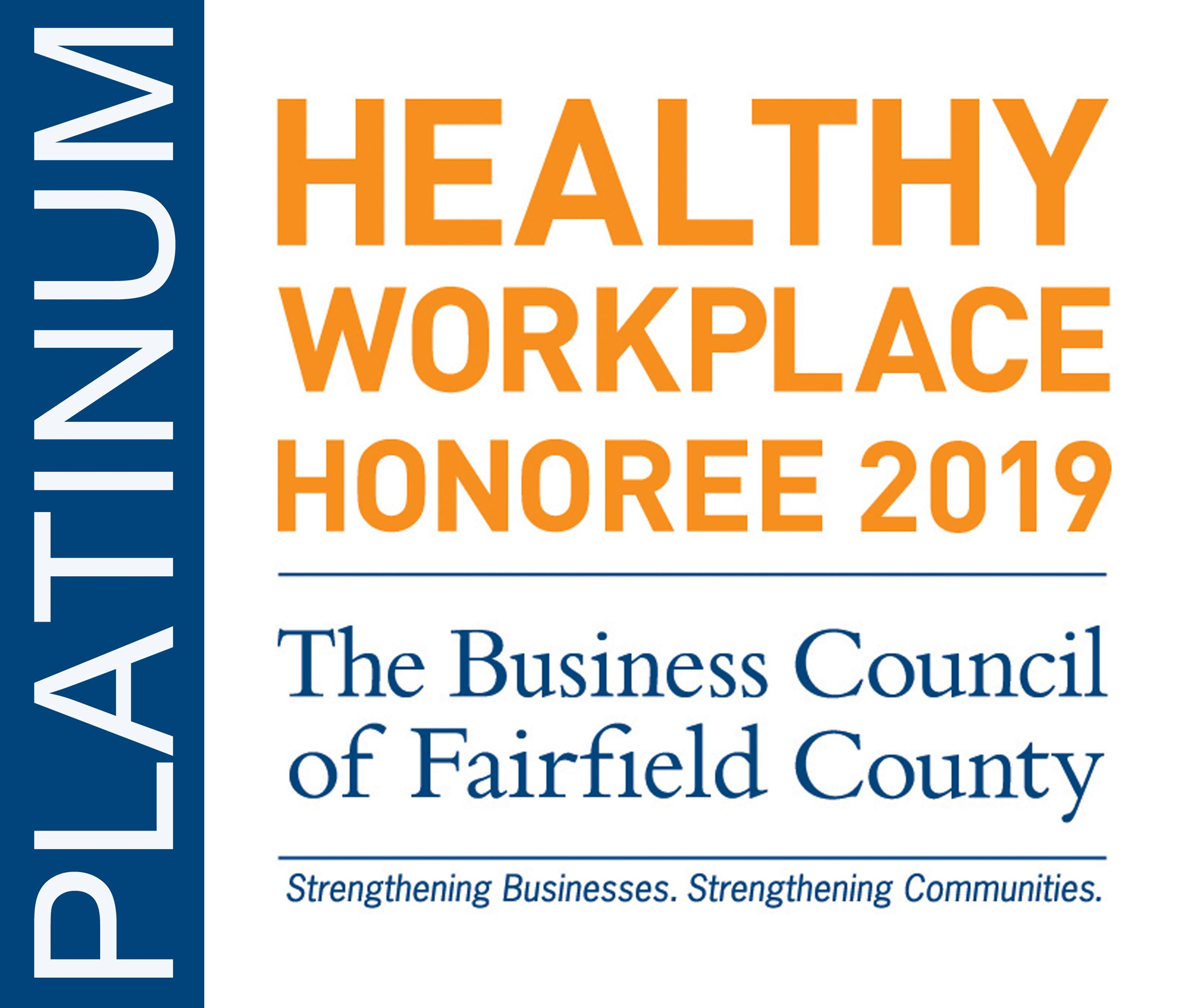 Healthy Workplace 2019 Platinum 300 Award