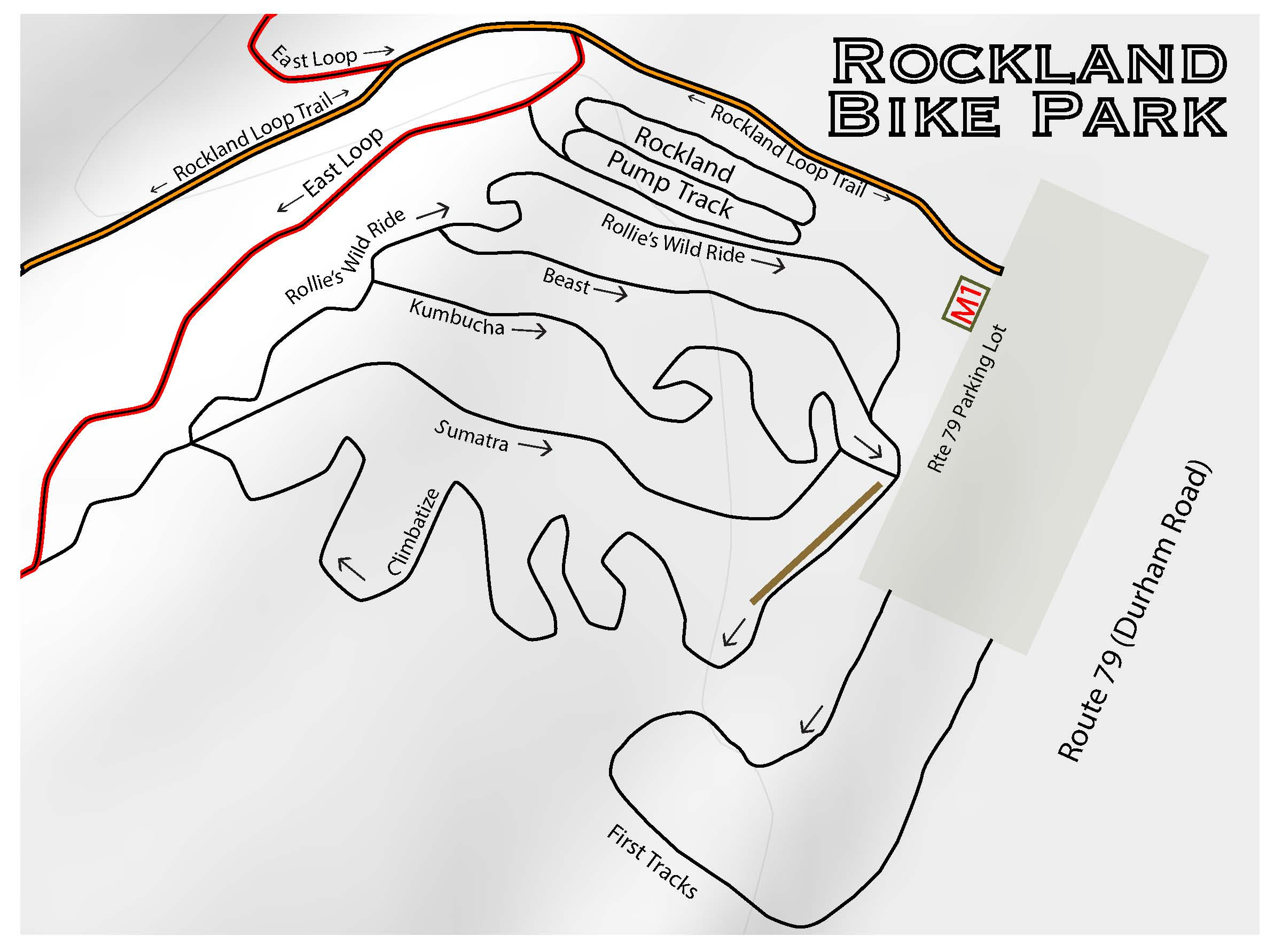 Rockland Bike Park Map 2019