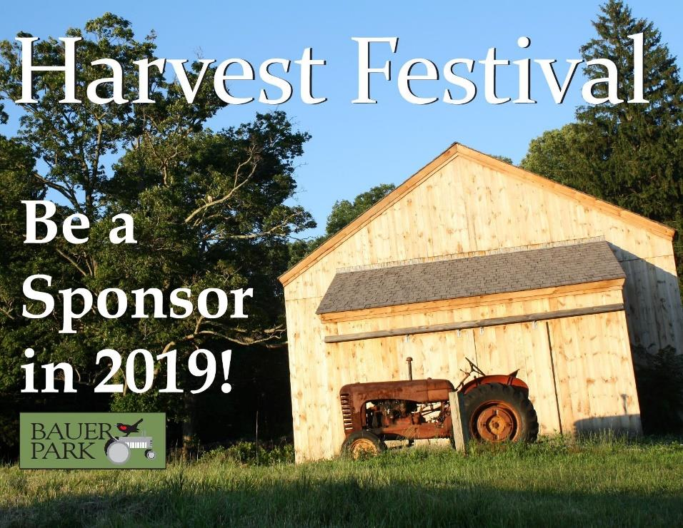 Harvest Festival Be a sponsor in 2019!