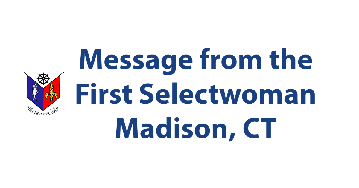 Message from the First Selectwoman