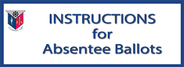 Instructions for absentee ballots