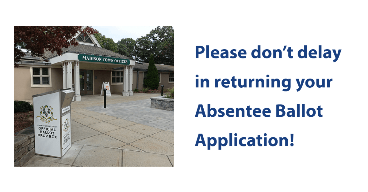 dont delay in returning your absentee ballot application