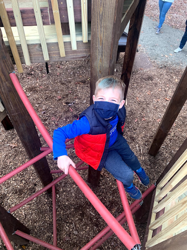 child playing on the playground