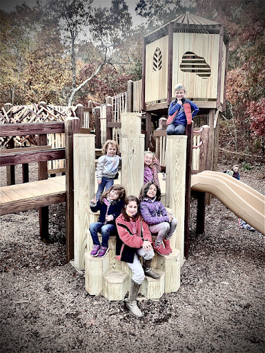kids sitting on playground