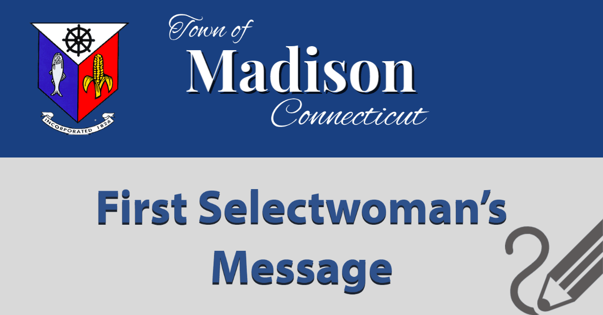 First Selectwomans Message
