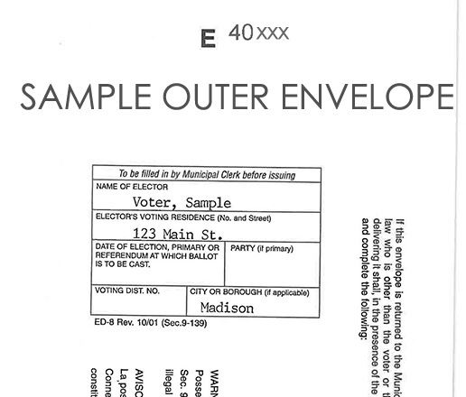 outer-envelope serial number and voter name and address